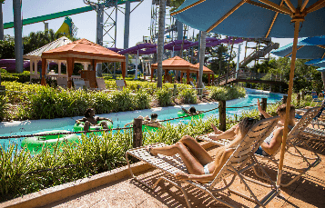 Key West loungers Adventure Island water park