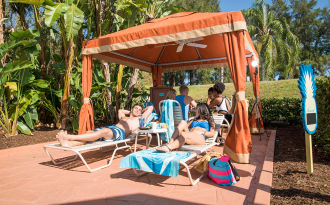 Rent a private Cabana and relax with your family and friends