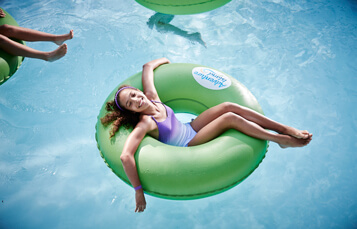 Lazy river at Adventure island